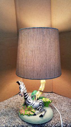 Zebra lamp, 18 inches high for Sale in Renton,  WA