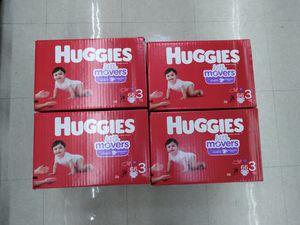 4 boxesHuggies size 3 for Sale in Philadelphia, PA