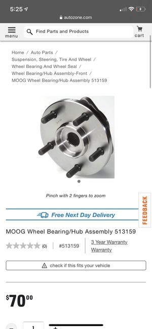 MOOG WHEEL BEARING/HUB ASSEMBLY for Sale in Gilbert, AZ