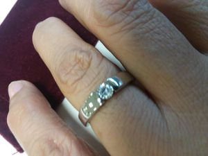 Pretty White Gold Plated CZ Ring for Sale in The Bronx, NY