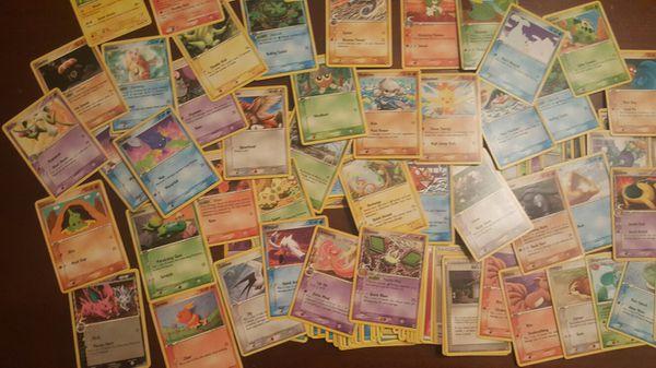 Pokemon card collection 340 Common, Uncommon, Rare Cards