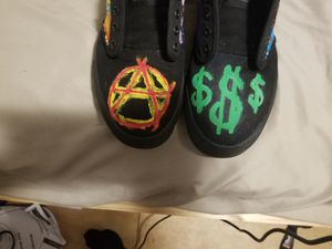 Custom, hand painted black vans for Sale in Beaver Falls, PA