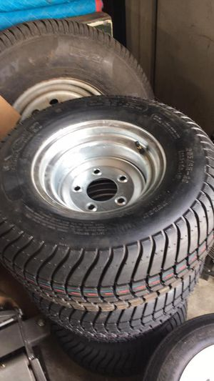 "New Trailer tire and RIM Heavy duty load range E 205/65-10 10"" trailer tire and rim pontoon trailer - We carry all trailer tires - free install for Sale in Plant City, FL"