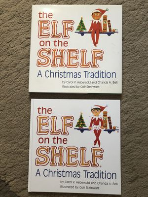 Two elf on the shelf Christmas books for Sale in San Francisco, CA