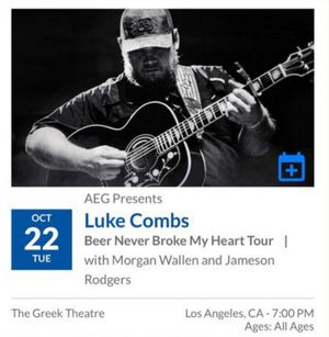 Luke Combs - TONIGHT! for Sale in Los Angeles, CA