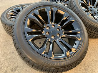 "22"" GMC Sierra Wheels BRIDGESTONE TIRES Sensor Yukon Denali Rims Cadillac Escalade for Sale in Rio Linda,  CA"