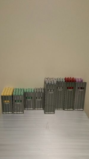REAL WAX CANDLES (unscented) - various box prices. for Sale in Arlington, VA