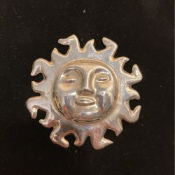 Vintage Sterling Sun Brooch - Pin 925- Mexico - Stunning Piece- Top Quality #artssoflo for Sale in Miami,  FL