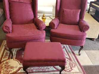 Queen Anne Chairs With Ottoman for Sale in Lake City,  GA