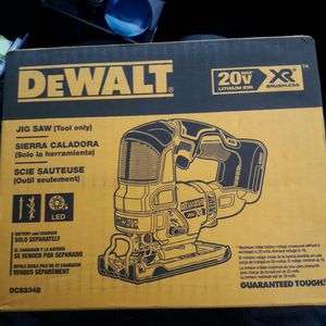 Dewalt XR 20v Brushless Jig Saw for Sale in Seattle, WA