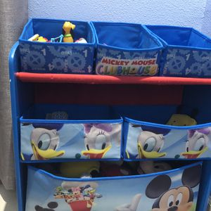 Micky Mouse Organizer and Teddy Bear floor Seat for Sale in Richmond, CA