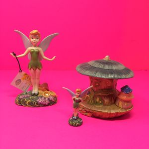 DISNEY TINKERBELL CERAMIC FIGURINES + HOUSE for Sale in Hyattsville, MD