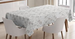 "Tablecloth 60""W x 90""L Monochrome Flowers Print 20882 for Sale in Orlando, FL"
