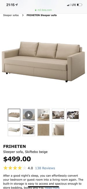 Ikea Sofa Bed for Sale in Reston, VA