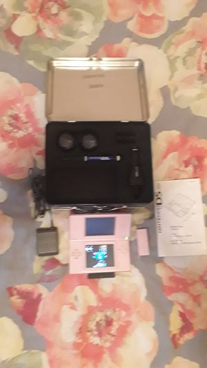 New Nintendo DS lite (pink) with games for Sale in Lombard, IL