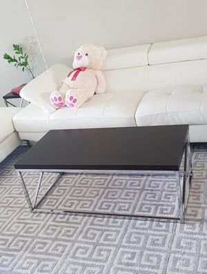 Black Wood and Chrome Coffee table for living room. for Sale in Sebring, FL