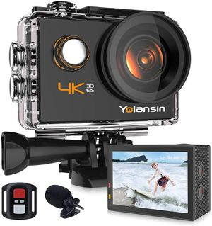4K Action Camera 20MP 40M Waterproof with 170° Wide Angle Ultra HD DV Camcorder with 2.4G Remote Control 2 Batteries Mounting Accessories for Sale in Syosset, NY
