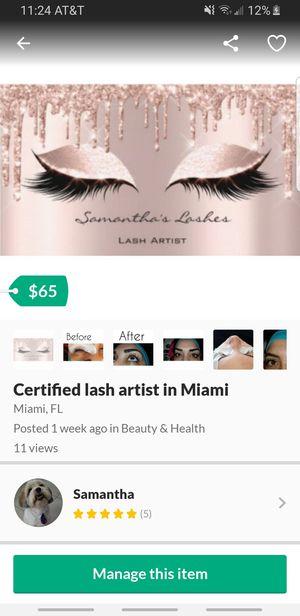 Certified lash artist in miami for Sale in Miami, FL