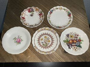 "Set of 5 Vintage 3.5"" Spode England Miniature Salt Pad Sauce Trinket Dishes for Sale in Citrus Heights, CA"