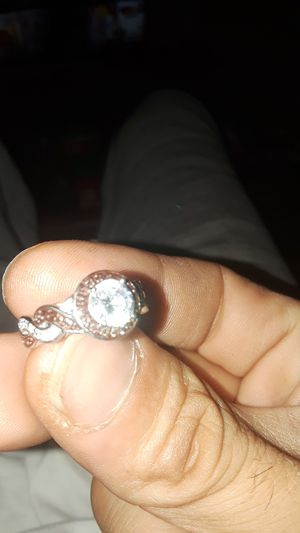 Silver ring chocolate diamonds for Sale in Cleveland, OH
