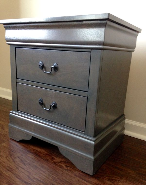 New Gray Nightstand