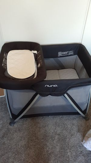 Nuna pack in play + diaper change for Sale in El Cajon, CA