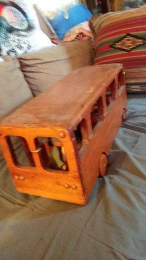 ($75-OBO)A great project) Real neat solid wood bus can paint do whatever you want for Sale in Lexington, KY