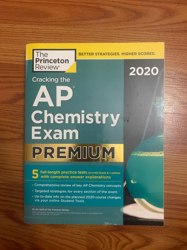 2020 Princeton Review AP Chemistry practice book (never been used)