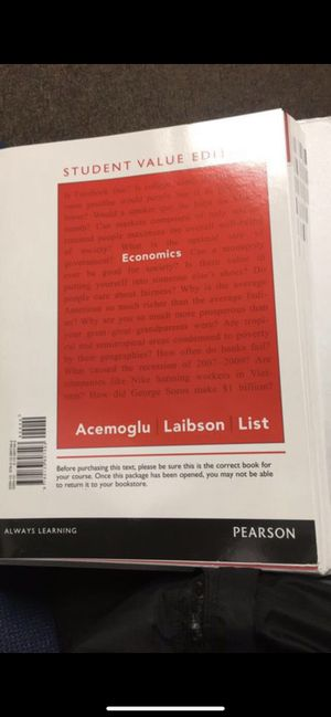 ECONOMICS(looseleaf) textbook for Sale in McMinnville, OR