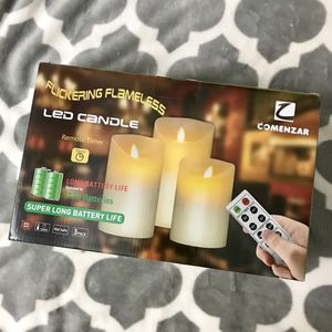 LED candle, flickering flameless, 3pc for Sale in San Bruno, CA