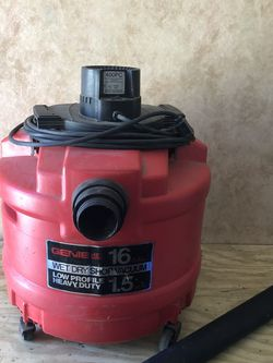 genie jetvac 16 gallon 1.5 hp wet dry needs hose for Sale in Fort Myers,  FL