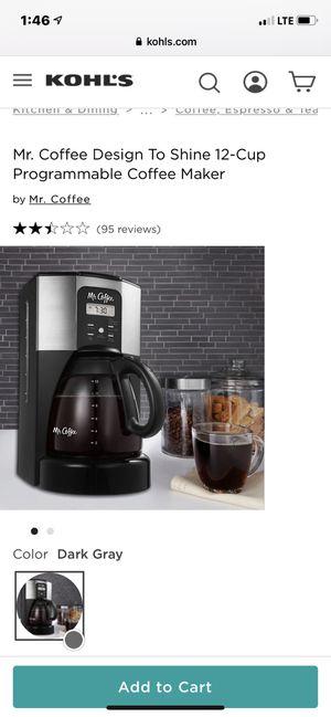 Mr. Coffee brand coffee maker for Sale in Oxon Hill, MD