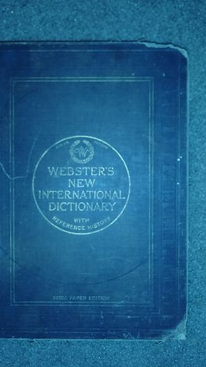 Webster's New International Dictionary with Reference History. Copyright 1914 for Sale in Columbus, OH