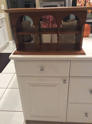 2 wooden display shelves, wall mountable, excellent condition - in Weston for Sale in Tamarac, FL