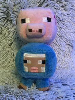 Minecraft Plush sheep & Pig for Sale in Washington,  DC