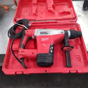 Milwaukee Hammer Drill With Case And 2 Bits for Sale in Houston, TX