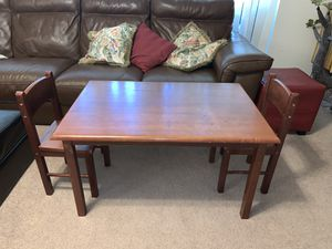 Solid Wood Kids Table and Chairs by Gift Mark Kid's Korner for Sale in Boca Raton, FL