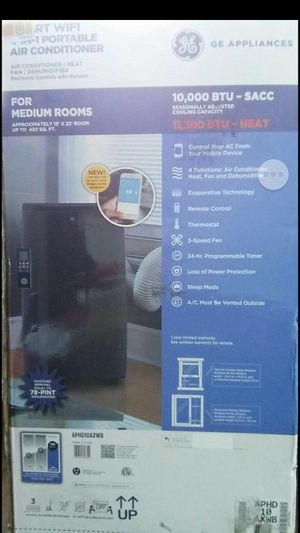 GE Smart 4in1 portable Air Conditioner for Sale in Tacoma, WA