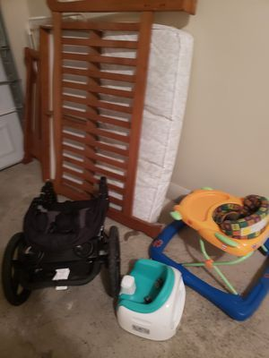 Baby crib, toy, chair, and stroller for Sale in Alexandria, VA