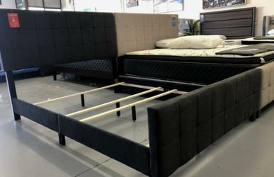 Cool Brand New Bed Frames Beige or Grey King $228 Queen $188 Full $168 for Sale in Chula Vista,  CA