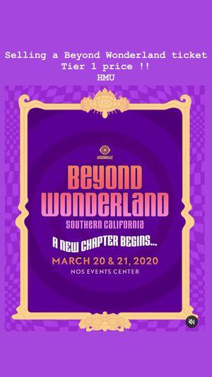 Beyond Wonderland Tier 1 Price for Sale in Long Beach, CA