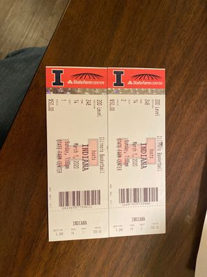 Illinois basketball tickets Sunday March 1st for Sale in Elmhurst, IL