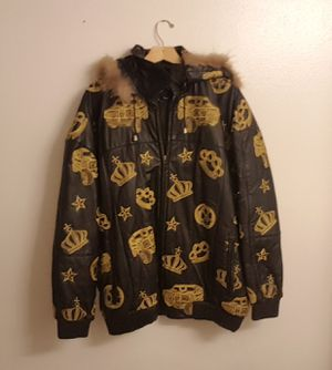 Phat Boi 2XL Heavy Leather Winter Coat XXL for Sale in Ellisville, MO