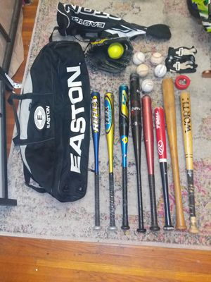 8 baseball bats, 6balls, 2 pairs of gloves and 2 bag. NO SEPARATE for Sale in Queens, NY