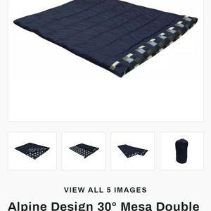 Alpine Design 30 Degree Double Sleeping Bag for Sale in Irvine, CA