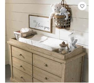 Changing Table Topper Cosi Bella Delfino Dressing Kit in Farmhouse Pine for Sale in San Diego, CA