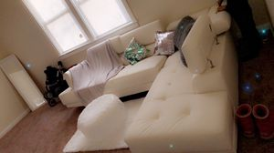 Cream sectional couch for Sale in Dundalk, MD