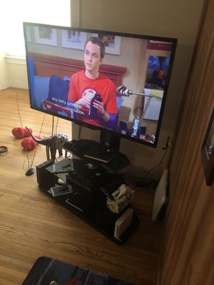 """Black 55"""" tv stand for Sale in Upper Darby, PA"""