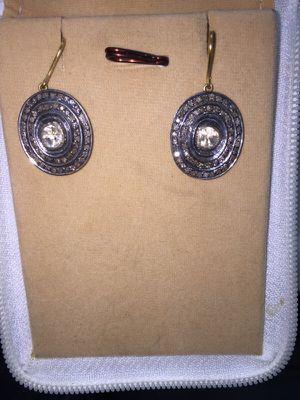 Rose cut diamond earrings boho chic for Sale in Boston, MA