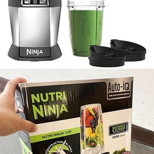 (NEW) $65 NUTRI NINJA Auto-iQ Blender 1000W Motor w/ 18oz and 24oz Cup & Lid for Sale in El Monte, CA